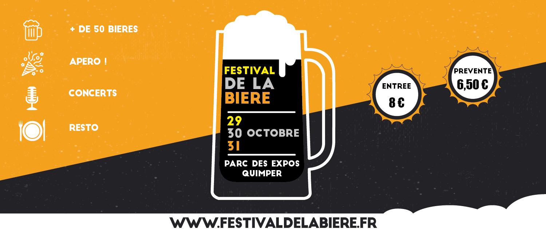 Affiche pour le Festival de la Bière de Quimper de 2021