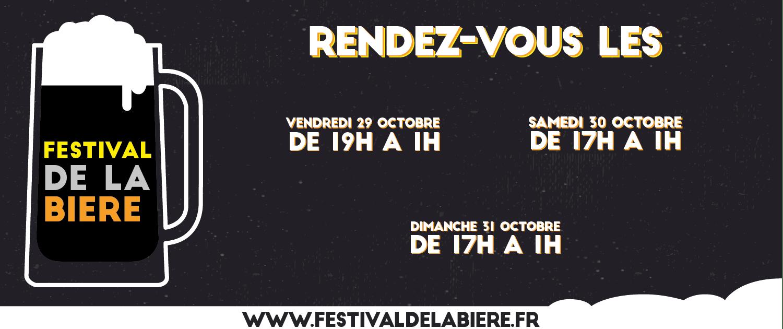 Affiche avec les différentes dates du Festival de la Bière de Quimper de 2021