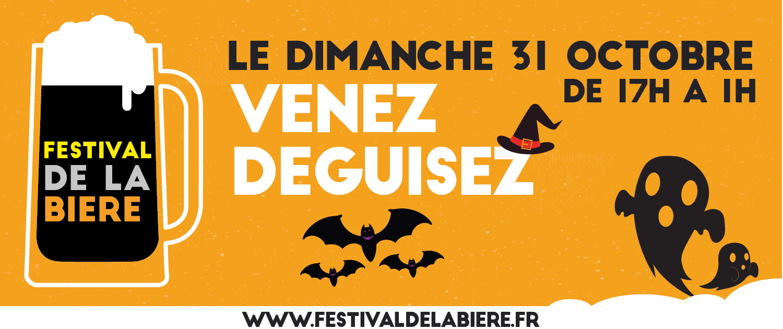 Affiche pour le 31 octobre du Festival de la Bière de Quimper de 2021