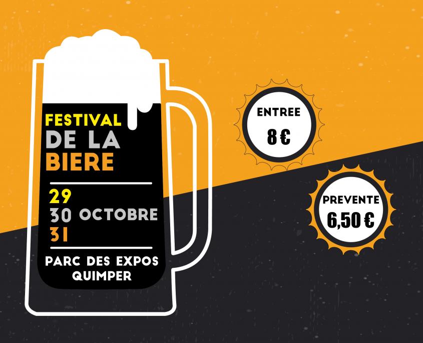 Visuel avec les dates de la 2ème édition du Festival de la Bière de quimper
